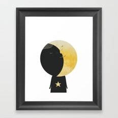 The day I kissed the Moon Framed Art Print