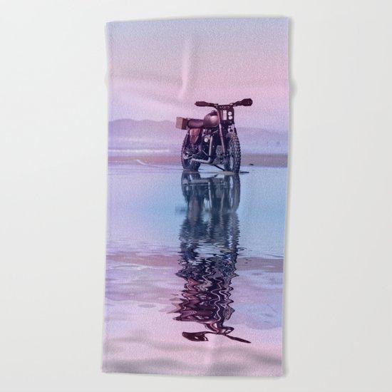 Where the Journey  begins Beach Towel