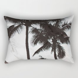 Velvet Palm trees on marble Rectangular Pillow