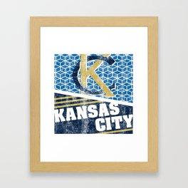 Big Bleu Design KC Block Framed Art Print