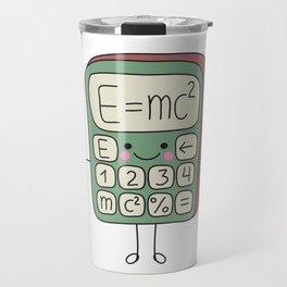 cartoon funny calculator smiles Travel Mug