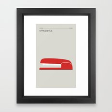 Office Space – Minimal Movie Poster Framed Art Print