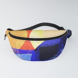 Modern abstract in primary  Fanny Pack
