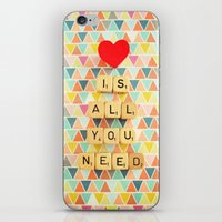 all you need is love iPhone & iPod Skins featuring Love is All You Need by happeemonkee