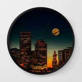 Boston Pink  Moon Wall Clock