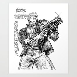 198X: Charles Buronson Art Print