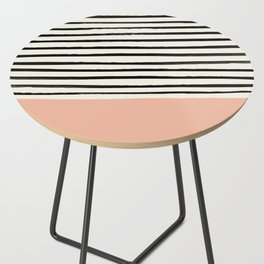 Peach x Stripes Side Table
