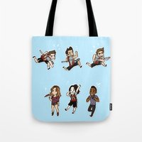 kendrawcandraw Tote Bags featuring Lacrosse by kendrawcandraw