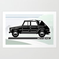 VW Thing 181 Profile Art Print