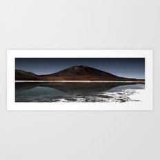 Mountain of the lake Art Print