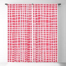 sun kissed coral random cross hatch lines checker pattern Blackout Curtain