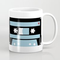 tape Mugs featuring Love Tape by Project M
