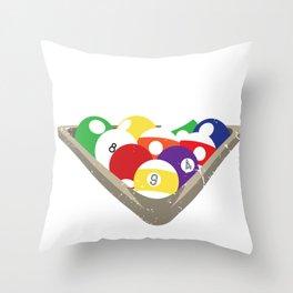 Billiards - Playing Pool Joke - Funny Cueball  Throw Pillow