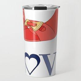 Shoe Love Conquers All Travel Mug