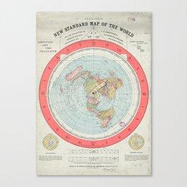 Flat Earth Society Wall Map Canvas Print