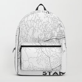 Minimal City Maps - Map Of Stamford, Connecticut, United States Backpack