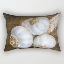Garlic Bulbs Rectangular Pillow
