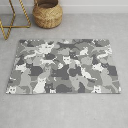 Gray camo with CATS Rug