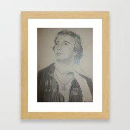 Robin - Pencil Drawing Framed Art Print