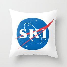 Ski NASA logo Throw Pillow