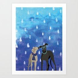 Sighthounds Watercolour Art Print