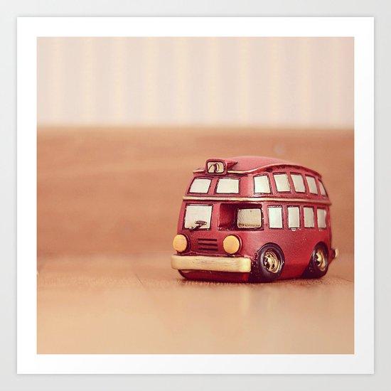 Vintage Bus Art Print