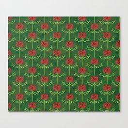 Spring Roses Pattern Canvas Print