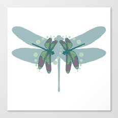 pattern with dragonflies 1 Canvas Print