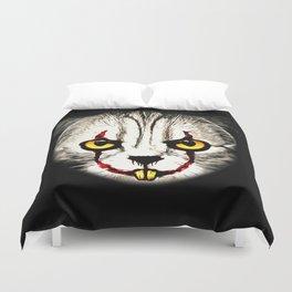 cat clown kittywise no text vector art Duvet Cover