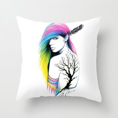 -Stadt Indianer- Throw Pillow