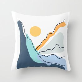 Minimalistic Landscape II Throw Pillow