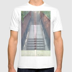 Stairs MEDIUM Mens Fitted Tee White