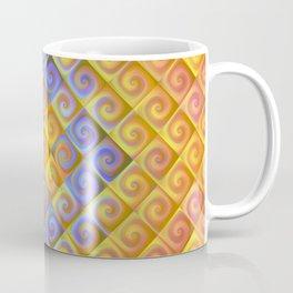 Spirals in Squares Coffee Mug