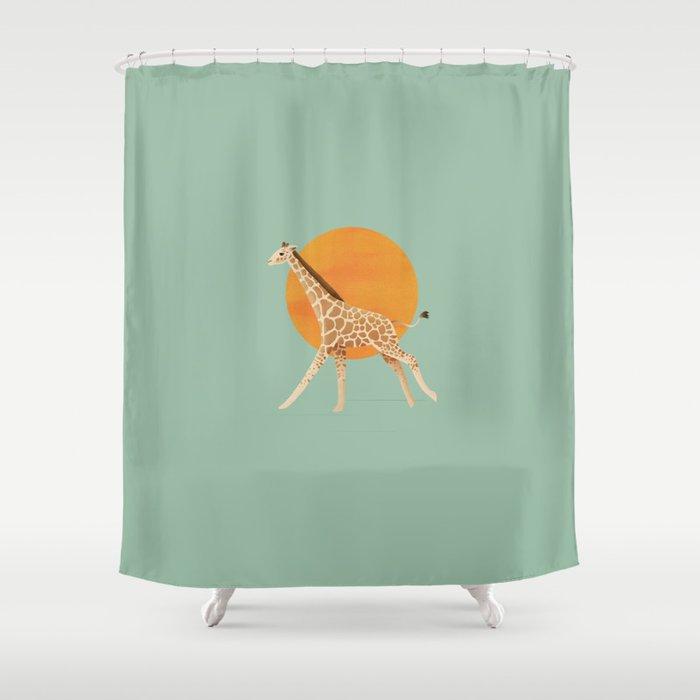 Giraffe and Sun Shower Curtain