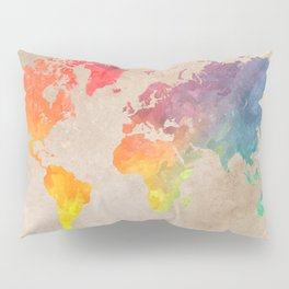 World Map Maps #map #maps #world Pillow Sham