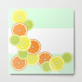 Citrus Fruits Metal Print