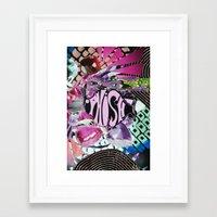 phish Framed Art Prints featuring Purple Phish by John Turck