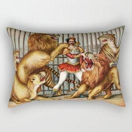 The Lion Tamer 1873 Vintage Circus Rectangular Pillow