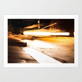 Flying Taxi Art Print
