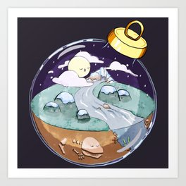 Tiny World Ornament Art Print
