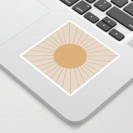 Minimal Sunrays Sticker
