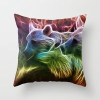 bears Throw Pillows featuring Bears by Veronika