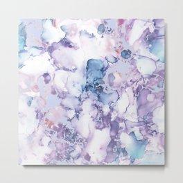 Painted Marble Texture Metal Print