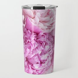 Pink Peonies Shabby Chic Cottage Peonies Travel Mug