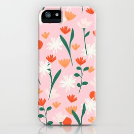 Summertime Floral Pattern iPhone Case