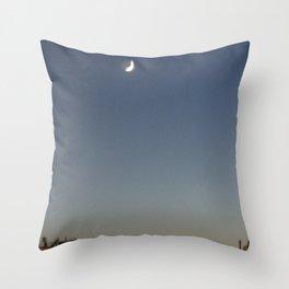 Shaky Moon Throw Pillow