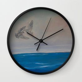 Love and Peace of Two Doves Flying Wall Clock