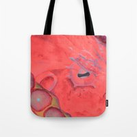 poe Tote Bags featuring Poe by The Hue Zoo