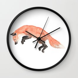 Les Animaux: Red Fox Wall Clock