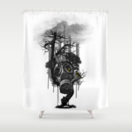 DIRTY WEATHER Shower Curtain